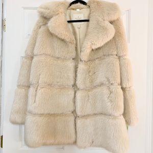 Kate Spade Faux Fur 32 Tunic Coat
